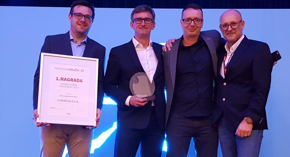 Lumar - Prejeli nagrado Marketinška odličnost 2017