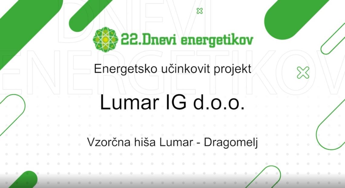 Lumar - Uvrščeni v finalni izbor za ENERGETSKE NAGRADE 2020