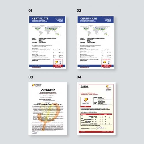 Lumar - Certifikat Passivhaus inštituta v Darmstatu
